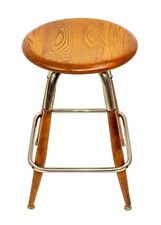 S. Bent & Brothers Vintage Industrial Maple Wood Chrome Swivel Stool Gardner, Ms