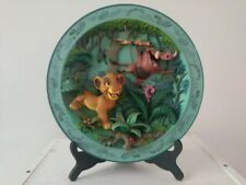 """The Disney Store The Lion King """"Hakuna Matata"""" 3D Collector Plate # 2089/7500"""