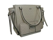 77e23539e5f4 Guess G Logo Purse Hand Bag Crossbody   Wristlet Wallet Set 2 Piece Khaki  NWT