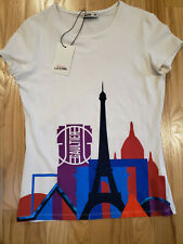"JUNIOR GAULTIER Girls ""Paris Skyline"" Print Top BNWT"