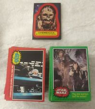 220 1977 Topps Star Wars Cards Series 2  & Series 4  Lot Plus 10 Stickers