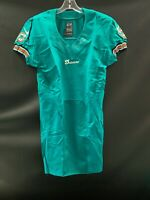 MIAMI DOLPHINS TEAM ISSUED BLANK ON FIELD AQUA JERSEY SIZE 38 2012 W/ CUT BOTTOM