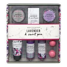 Ladies Lavender & Sweet Pea Bath & Body Pamper Hamper Toiletry Gift Set