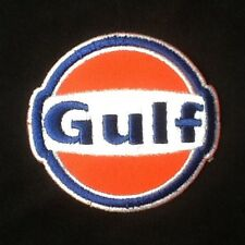 GULF LOGO OIL F1 GAS GASOLINE  BADGE IRON SEW ON PATCH