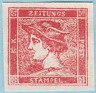 Austria 1851 - 1856 SC#P4 MH Red Mercury Newspaper Stamp. Sold as is