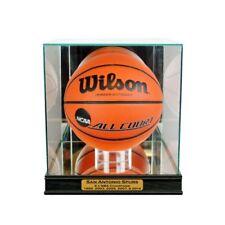 New San Antonio Spurs Championship Glass & Mirror Basketball Display Case UV