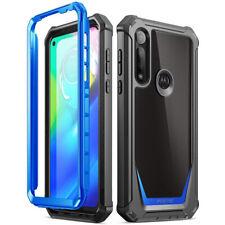 Caso de alimentación Motorola Moto G Cubierta protectora a prueba de impactos Híbrida , poética Azul