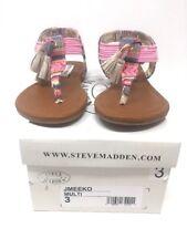 Steve Madden Jmeeko Girl's Ankle Strap Sandal Flip Flops Sz 2 & 3 Tassel Pink
