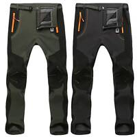 Men's Waterproof Outdoor Winter Thermal Pants Hiking Skiing Windproof Trousers
