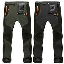 Mens Waterproof Windproof Thermal Trousers Winter Combat Outdoor Hiking Pants