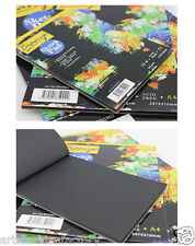 25-Sheet Artist Sketch Pad. 6-inch By 8-inch Paper Bound Black Paper Pad A5