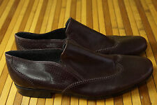 """ARMAND BASI Men's Shoes EU40 11"""" Insole Brown Leather Wing Tip Slip On Loafers"""