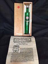 Farina Gegenuber 1709 Eau & Cologne Empty Bottle 3 oz, Wood Box, Paper Scroll