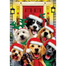 Christmas Dogs Holiday Decorative Flag