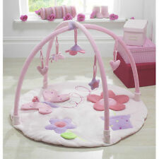 Lollipop Lane Upsy Daisy pink fabric baby's luxury play mat gym activity mat new