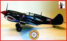 Paper Air Force P-40E Warhawk Model Kit - New Kit!