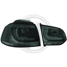 SET Fari Fanali posteriori a LED GTI R Look Volkswagen Golf  VI 6 08-> neri Fumè