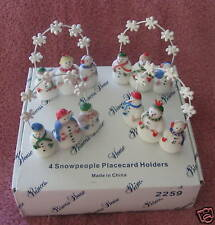 PRINCESS HOUSE 4 SNOWPEOPLE PLACECARD HOLDERS #2259