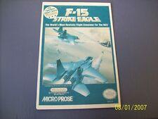 F- 15 STRIKE EAGLE  NES 8 Bit Nintendo Vidpro Card
