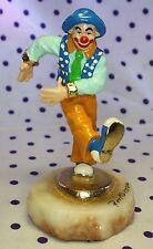2000 Ron Lee Clown Figurine A Leg Up Kix Kicking Ccg14 Signed Collectors Club