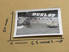 1965 MOTOR RACING CAR PHOTO FORD ANGLIA MINI COOPER TREVOR LUNN CRASH MALLORY
