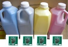 4 x XEROX DOCUCOLOR  240,242,252, 260 TONER REFILL + 4 CHIPS (C-Y-M-K)