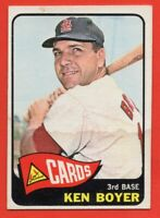 1965 Topps #100 Ken Boyer VG-VGEX+ WRINKLE MARKED St. Louis Cardinals FREE SHIP