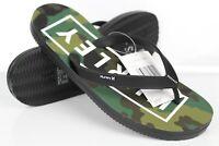Hurley Men's One & Only 2.0 Printed Sandal Flip Flops Black Green Camo CJ1624
