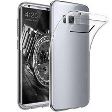Samsung Galaxy S8 Minimalistic Clear Transparent Soft TPU Case FREE SHIPPING