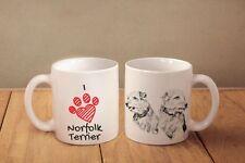 "Norfolk Terrier - ceramic cup, mug ""I love"", Ca"