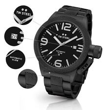 TW Steel Watch * CB215 Canteen 45MM Automatic Black PVD Steel COD PayPal #crzyj