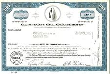 Clinton Oil Company > 1969 Wichita, Kansas old stock certificate share
