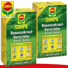 COMPO 2 x 150 ml Rasenunkraut-Vernichter Banvel® Quattro Ehrenpreis Gundermann