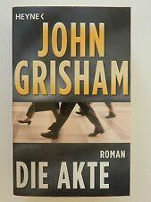 John Grisham Die Akte Roman Thriller Heyne Verlag
