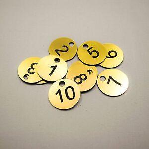 Set of 15x3cm Laser Engraved Number Discs, Table, Tags, Locker, Pub, Restaurant