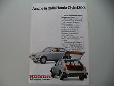 advertising Pubblicità 1979 HONDA CIVIC 1200