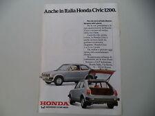 advertising Pubblicità 1979 HONDA CIVIC 1200