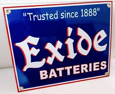 Exide Battery Gas Oil Gasoline Garage Mechanic Sign . Free ship on any 8 signs