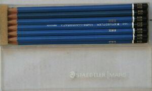 12 Staedtler Mars-Lumograph 100 6H lead presharpened pencils in original box!