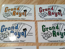 Grand Royal Records Label Stickers (Lot of 6) beastie boys label - cards & dice
