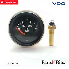 VDO VISION 52mm 12v ELECTRIC WATER TEMP GAUGE + SENDER AUTOMOTIVE MARINE 4WD