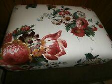NEW Bespoke Foot Stool. GP & J Baker Fabric 'Kingsley'.18x13x7 Inches. Free Post