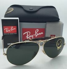 New RAY-BAN Sunglasses RB 3138 SHOOTER 181 62-09 Gold & Havana Frame w/G15 Green