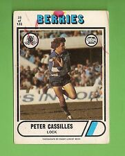 1976 SCANLENS  RUGBY LEAGUE CARD  #33  PETER CASSILLES, CANTERBURY BULLDOGS