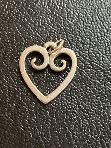 James Avery Sterling Silver Open Scroll Heart Charm