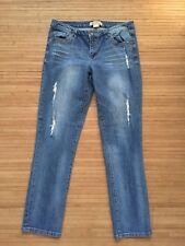 Democracy Artisan Crafted Medium Wash Distressed Slim Leg Ankle Jeans Sz 8