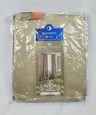 "Royal Velvet Plaza Traditional Tan Blackout Grommet-Top Curtain Panel, 50""x84"""