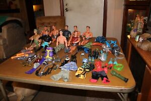 """Lot Of 9 Max Steel Action Figures with Accessories 12"""" Mattel"""