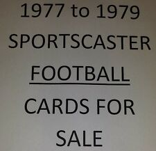 1977-79 FOOTBALL Sportscaster cards $0.99 ea - Many Different - YOU PICK!!