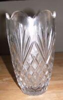 Vtg Galway Irish Over 24% Lead Crystal Vase KINVARA 9 Inch 25182 1983 Towle Box